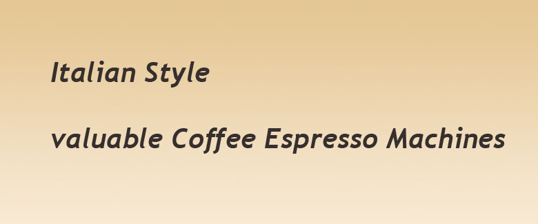 italian coffee espresso machines
